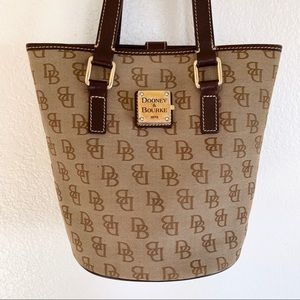 Vintage Dooney & Bourke Signature Logo Bucket Bag